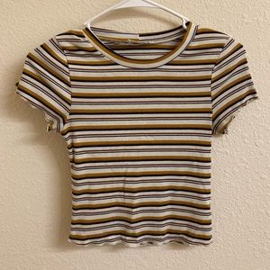 Striped Form-Fitting Crop Top!